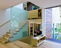 Stairs with a simple design can save space in a minimalist home (Source: Pinterest)