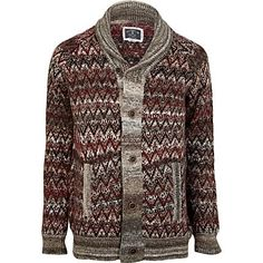 Red Holloway Road fairisle cardigan - cardigans - knitwear - men