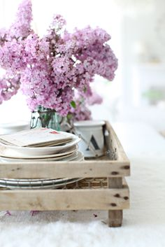 Dreamy Whites: A French Fruit Crate and Remnants of the Past