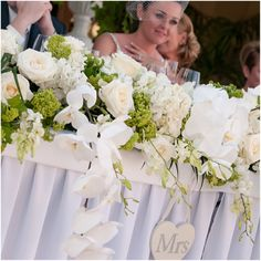 Elegant Wedding in Marbella by caprichia.com. Top Table. Photography by Becky Sharpe. Flowers by L&N Floral Design