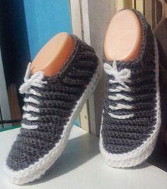 """Hecho a mano cosas Shush: """"Vans"""" - Crochet Zapatillas - PDF Patrón"""