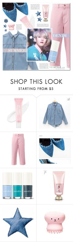"""Summer Denim look"" by pankh ❤ liked on Polyvore featuring chuu, Marni, Innisfree, The History of Whoo, Bloomingville and Etude House"