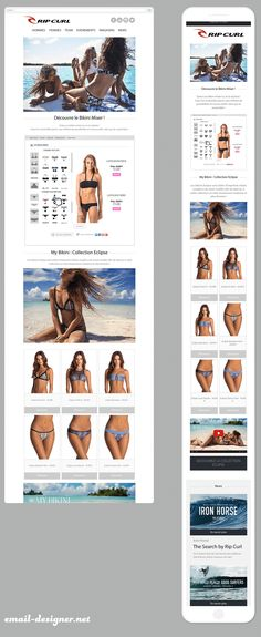 newsletter responsive rip curl Email Design Inspiration, Responsive Email, Rip Curl, Digital