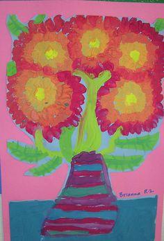 Van Gogh inspired Flowers in Vases by Paintbrush Rocket, via Flickr