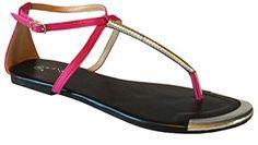 Womens Sandals Roman Gladiator Flats T Straps Thongs Ladies Shoes - Nicole - Novella (7, H. Pink *Kttey) EyesOnStyle http://www.amazon.com/dp/B00T8OB512/ref=cm_sw_r_pi_dp_sP0gvb1JYPF5J