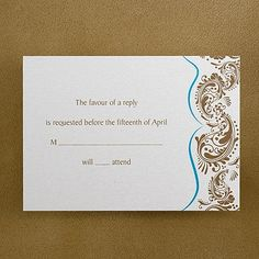 Our Destiny Respond Card and Envelope Pocket Wedding Invitations, Response Cards, Thank You Notes, Invitation Cards, Destiny, Rsvp, Envelope, Wedding Planning, Stationery