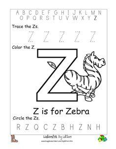 Worksheets Letter Z Worksheet free printable tracing letter z worksheets for preschool alphabet preschoolers worksheet big download as doc