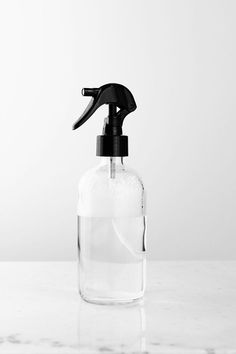 apothecary glass mist spray bottle with black mist nozzle