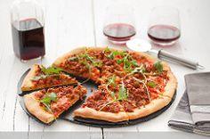 Pizza de picadillo, tomate y rúcula | por webos fritos
