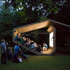 The People's Cinema, Pavillon, Design © Erika Hock Outdoor Stage, Outdoor Cinema, Outdoor Theater, Outdoor Play, Urban Landscape, Landscape Design, Landscape Fabric, Garden Design, Landscape Architecture