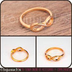 El anillo dorado Infinity es el anillo perfecto para poner un toque de serie-adicta a tus dedos. ¡Seguro que te encanta, si eres fan de Revenge! #anillo #ring #shopping #Woman #Lady #Chic #Trendy #jewelry #fashion #moda #complementos #style #love #infinity #tendencias #PymesUnidas