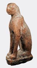 Egipcia De Madera Dura sentado Gato