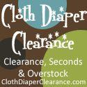 """Great website for cloth diapering on a budget. """"The products offered are either overstock, seconds (slight flaws), or discontinued items all at deep discounts to save you money."""""""