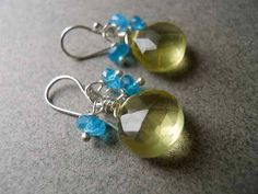 SET Lemonade Stand earrings and necklace SAVE 10 by SueanneShirzay, $100.00