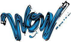 Wow from Lichtenstein Tribute by Alex Trochut, via Behance