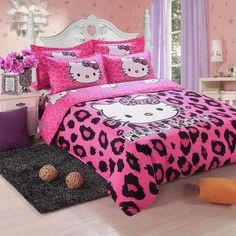 Hello Kitty Bedding Set Children Cotton Bed Sheets Hello Kitty Duvet Cover Bed Sheet