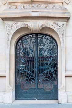 Paris Architecture Photography  Art Nouveau Iron Door----This would make a neat garden gate!