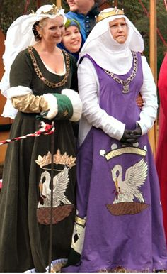 House Fleur & Ermine, great collection of heraldic dresses - Morgana and MG Pelican Dresses