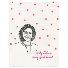 Emily Gilmore Card by Greenwich Letterpress
