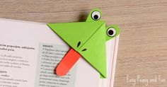 Hop hop, it's time to make frog corner bookmarks. Aren't these a silly bunch? We love origami for kids at Easy Peasy and Fun and think that origami corner bookmarks are just the thing to get the kids started with the art of origami. And if these encourage your kids to read more books you …