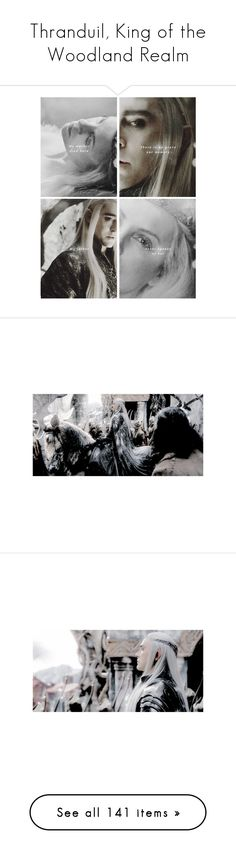 """""""Thranduil, King of the Woodland Realm"""" by fjsaqib ❤ liked on Polyvore featuring lord of the rings, pictures, backgrounds, fandom, legolas, lotr/hobbit, home, home decor, wall art and art"""