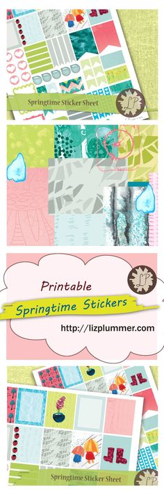 Lots of great planner stickers especially for spring!  Green, blue, pink, teal stickers featuring all sorts of March and April weather, rain showers, flower bulbs and new growth... cheer up your planner after the winter chill.