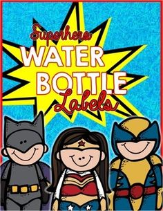 These Superhero Water Bottle Labels are perfect for parties or gifts! They'd be great for Valentines Day, Meet the Teacher, or even as a pump up drink before THE BIG TEST!Just print, cut out and wrap around a standard sized water bottle! To make labels water proof simply laminate tags before wrapping each bottle.