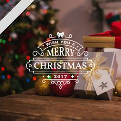 wish you a #merryChristmas 2017 - merry Christmas stickers  #windowstickers #Christmasstickers