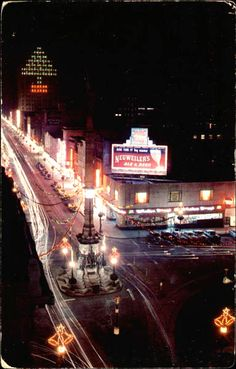 Christmas time in center city Allentown, PA...1960s.
