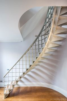 Professionals in staircase design, construction and stairs installation. In addition EeStairs offers design services on stairs and balustrades. Metal Stairs, Curved Staircase, Modern Stairs, Grand Staircase, Spiral Staircases, Stair Railing Design, Stair Handrail, Stair Ladder, Structure Metal