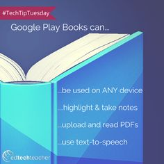 Learn more about how you can you use Google Play Books