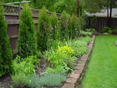 Garden Ideas Along Fence 25 brilliant landscape along fence line – thorplc | gardening