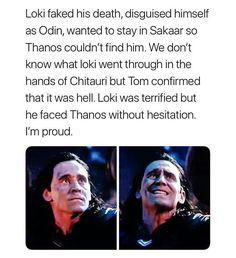 Even if his death was stupid and out of character. Loki was smarter than that dammit! Loki Thor, Marvel Funny, Loki Laufeyson, Tom Hiddleston Loki, Marvel Memes, Marvel Avengers, Marvel Dc Comics, Loki Sad, Dc Memes