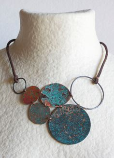 Big Star in Blue  Oxidized Copper and Leather by by mardecoLorrosa, €46.00