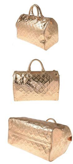 #Louis #Vuitton Miroir Speedy 35 Gold #Hand #bag