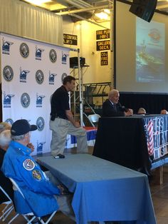 Buzz Aldrin during his interview Saturday morning.
