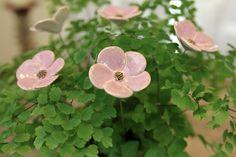Blumenstrauss, Blumen aus Keramik, Farbe flieder von karolart auf Etsy