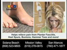 \n        Foot Pain, Back Pain and Plantar Fasciitis Relief -- San Diego Good Feet\n      - YouTube\n