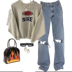 Indie Outfits, Retro Outfits, Cute Casual Outfits, Outfits For Teens, Stylish Outfits, Tomboy Fashion, Streetwear Fashion, Mode Ulzzang, Vetement Fashion