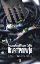 """Ik Vetrouw je ; Abate:  """"Culinaire thriller"""" is nogal misleidend, het eten in deze roman is namelijk nogal twijfelachtig van kwaliteit en herkomst. Dit boek is een kruising tussen een spannende detective en een schelmenroman. Want hoe slecht de hoofdpersoon Gigi ook is, je krijgt toch een zekere sympatie voor hem De Italiaanse keuken zul je voortaan wel met andere ogen bekijken....www.kopgroepbibliotheken.nl"""