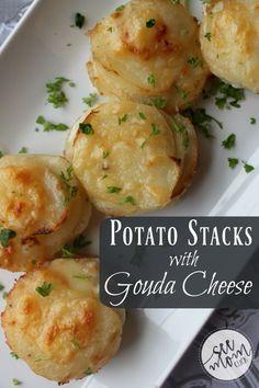 Potato Stacks with Gouda Cheese