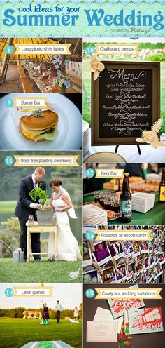 Cool summer wedding ideas that are fun LOVE THIS BETHANY!! #casualchicweddings #summerweddings
