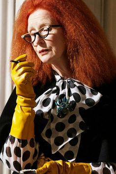 Myrtle Snow. I know she is a character in a show but what fashion sense!