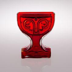 "HELENA TYNELL - Glass vase ""Viktoriana"" for Riihimäen Lasi Oy 1970's, Finland.   [h. 23,5 cm] Glass Design, Design Art, Lassi, Nordic Design, Finland, Modern Contemporary, Scandinavian, Glass Art, Retro Vintage"