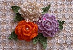 Come fare le rose all'uncinetto arrotolate in cotone schemi, tutorial e istruzioni per realizzarle in tutte le misure come confezionarle come fare le foglie Free Pattern, Crochet Earrings, Projects To Try, Knitting, Flowers, Crafts, Jewelry, Roses, Sanitary Napkin