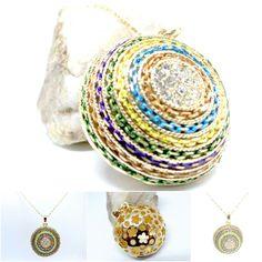 Circles Gold Pendant Necklace Ethnic Style Longer Length Diamantes Sparkle  in Jewellery & Watches, Costume Jewellery, Necklaces & Pendants | eBay!