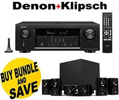 Introducing Denon AVRS720W 72 Channel Full 4K Ultra HD AV Receiver with BuiltIn WiFi and Bluetooth  Klipsch HDT600 Home Theater System Bundle. Great Product and follow us to get more updates!