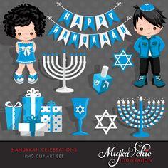MUJKA Commercial use unique PNG Clip art characters and graphics Feliz Hanukkah, Hanukkah Crafts, Hanukkah Decorations, Hannukah, Happy Hanukkah, Holiday Crafts, Hanukkah 2019, Holiday Ideas, Party Characters