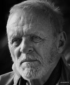 Anthony Hopkins (1937) - Welsh actor of film, stage, and television, and a composer and painter. Photo by Melvin Sokolsky