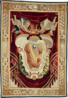 Medici Armorial, after a cartoon by Lorenzo Lippi (1606–1665), painted before April 27, 1643, woven at the Medici workshop under the direction of Pietro van Asselt (c. 1600–1644), Italy, Florence